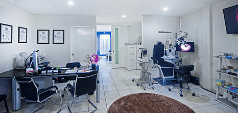Oftalmologo clinica sala de exploracion Ajijic