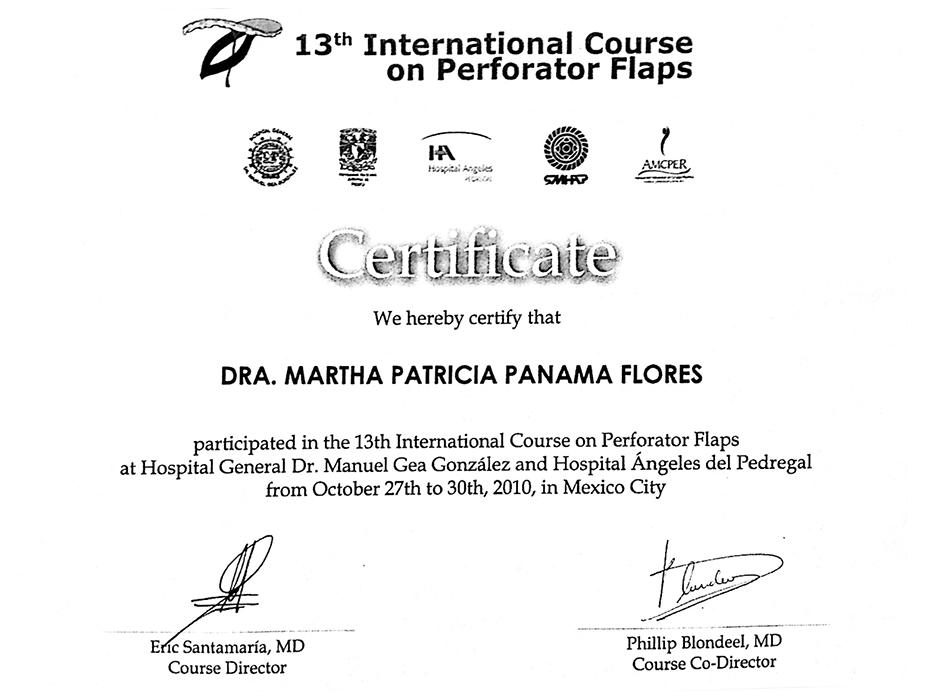 Certificado Cirugia Plastica de Cancun