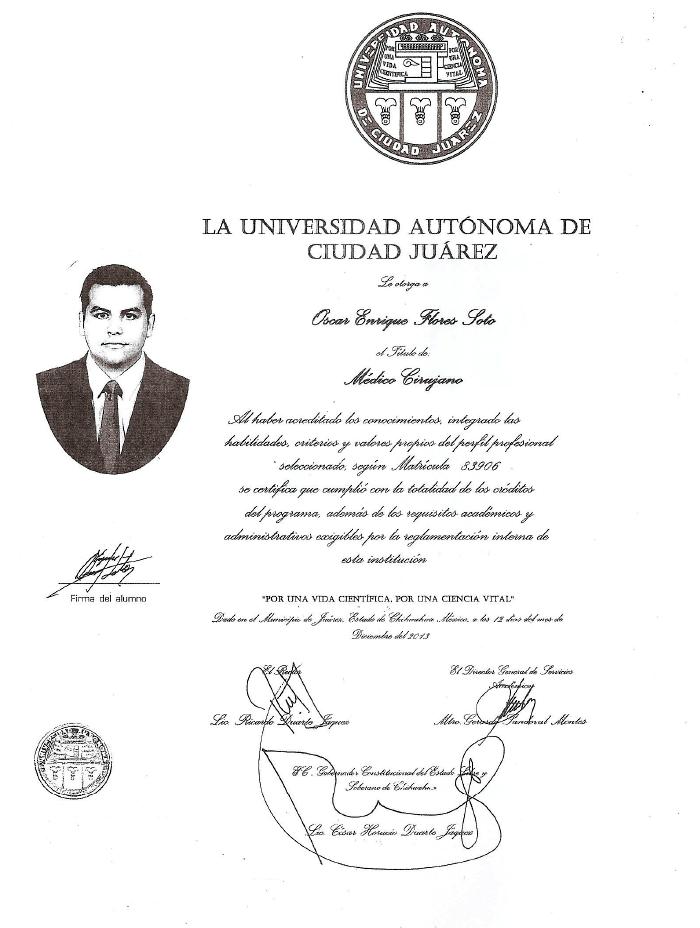 Certificado especialista en Fertilidad de Cancun