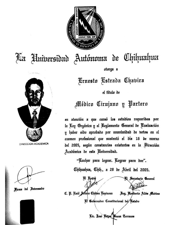 Certificado Rejuvenecimiento de Chihuahua