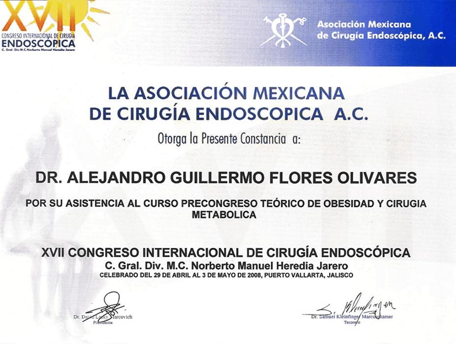 Certificado Bariatra de Ciudad Juarez