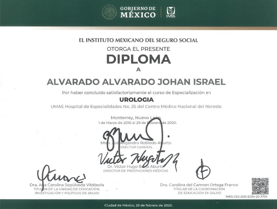 Certificados Urología de Ciudad Juarez