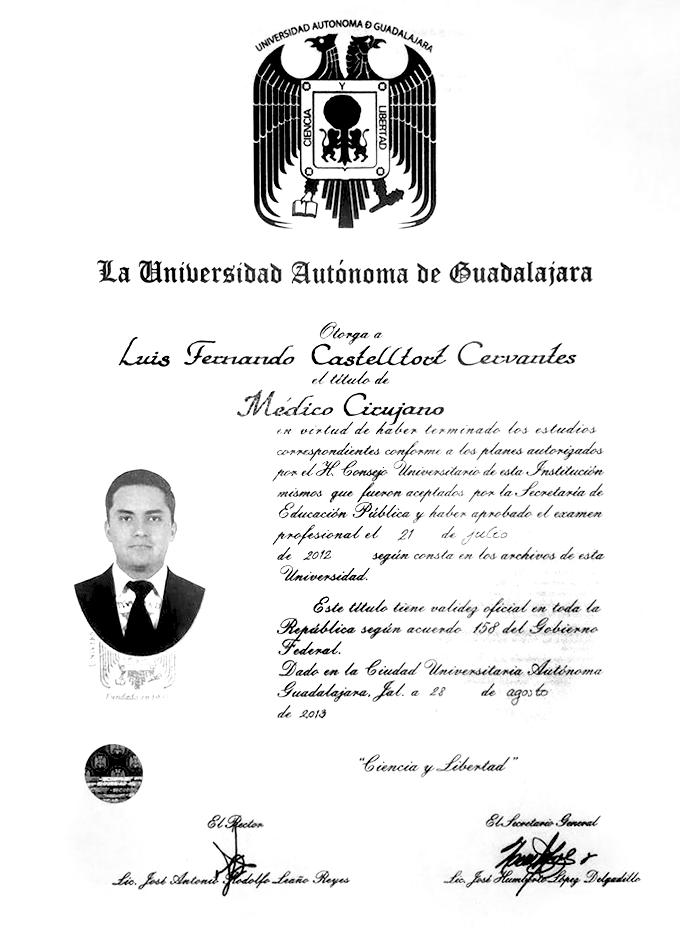 Certificados Urologia de Guadalajara