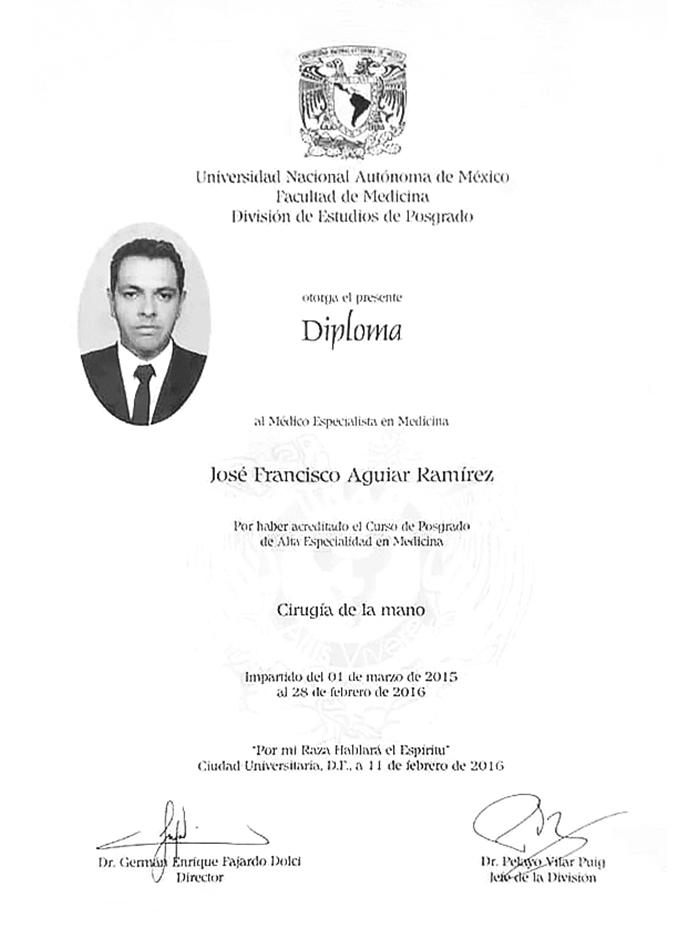 Certificado Ortopedia de Irapuato