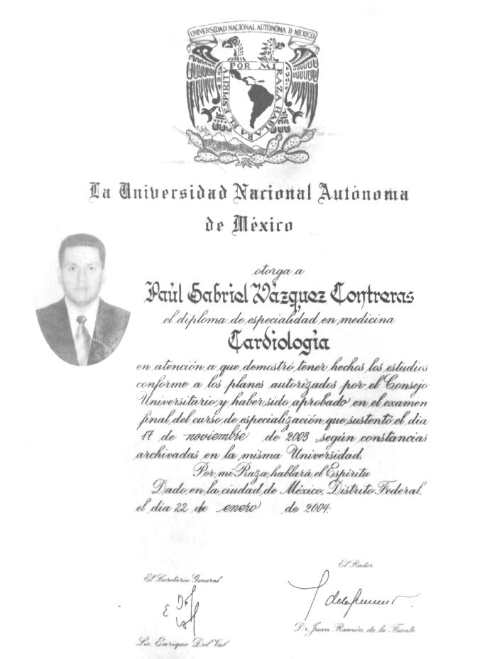 Certificados Cardiologia de Mazatlan