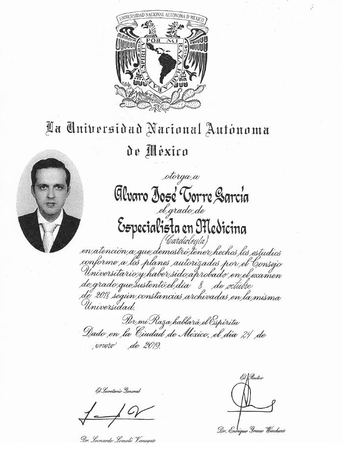 Certificados Cardiologia de Merida