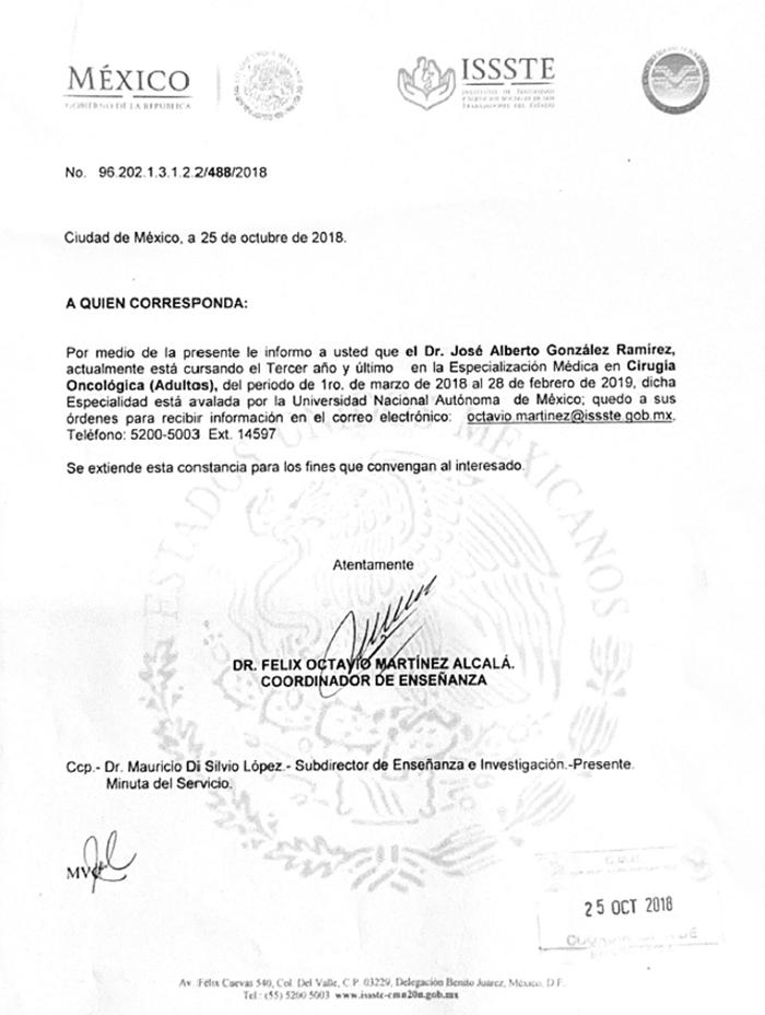 Certificados Oncologia De Merida