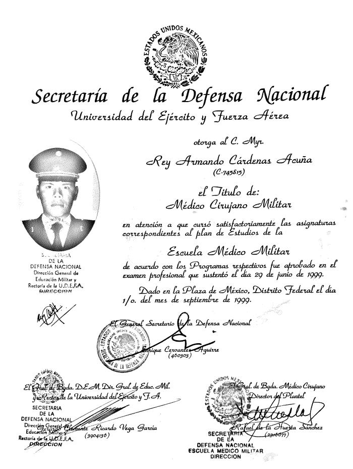 Certificado Ortopedia de Merida