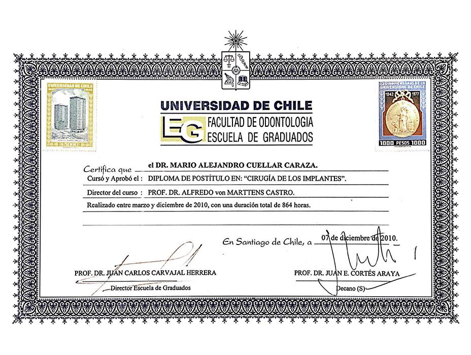 Certificado dentista de Monterrey