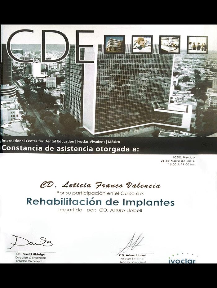 Certificado dentista de Oaxaca