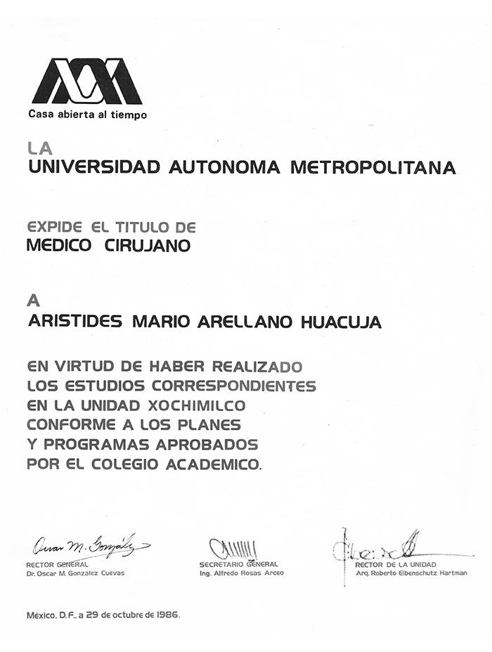 Certificado Cirugia Plastica de Puebla