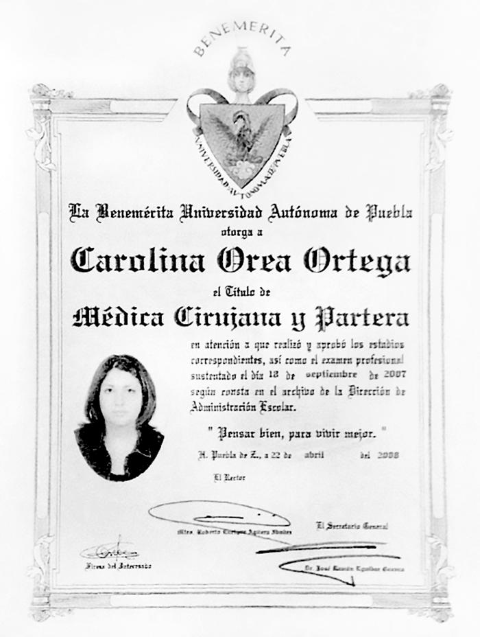 Certificado Oftalmologo de Puebla