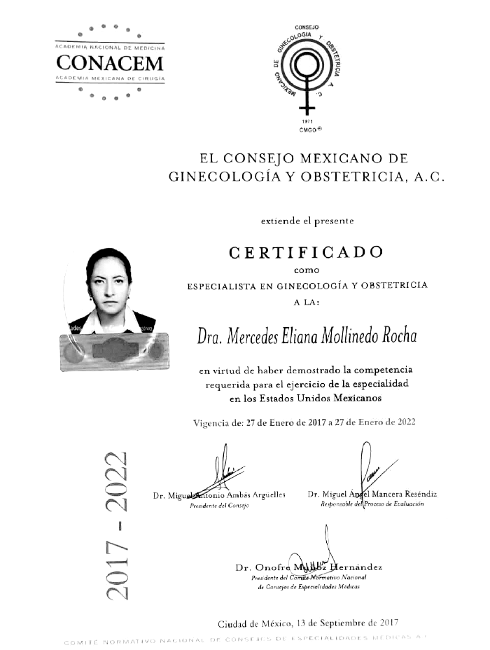Certificado Neurocirujano de Queretaro