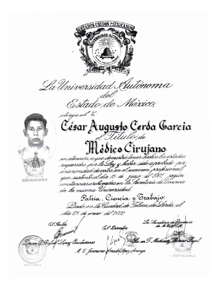 Certificado Ortopedia de Saltillo