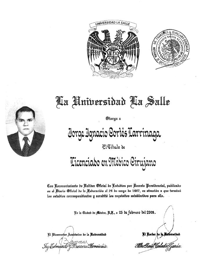 Certificado Bariatra De Los Cabos