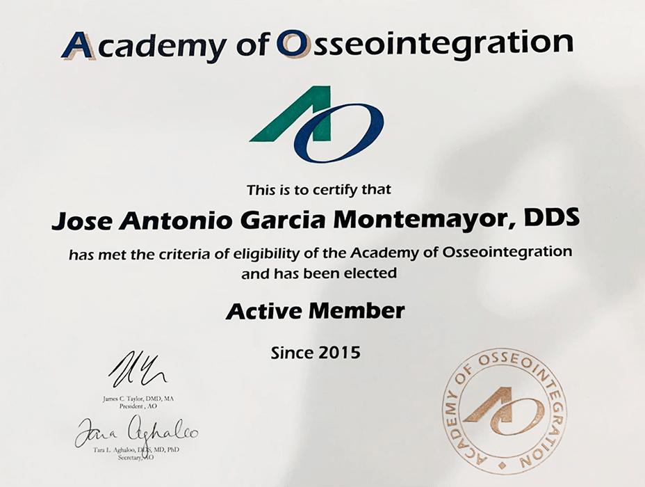 Certificado dentista de Los Cabos