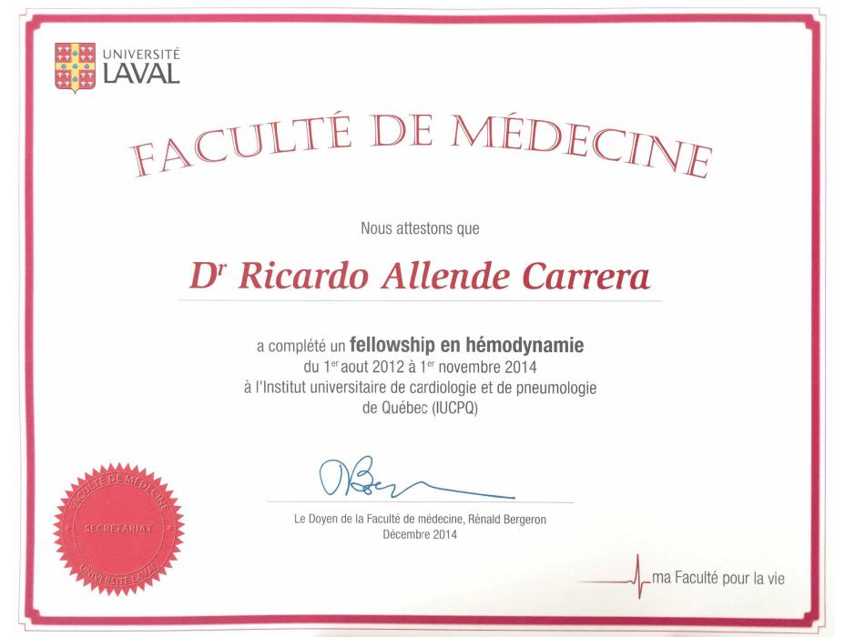 Certificados Cardiologia de San Luis Potosi