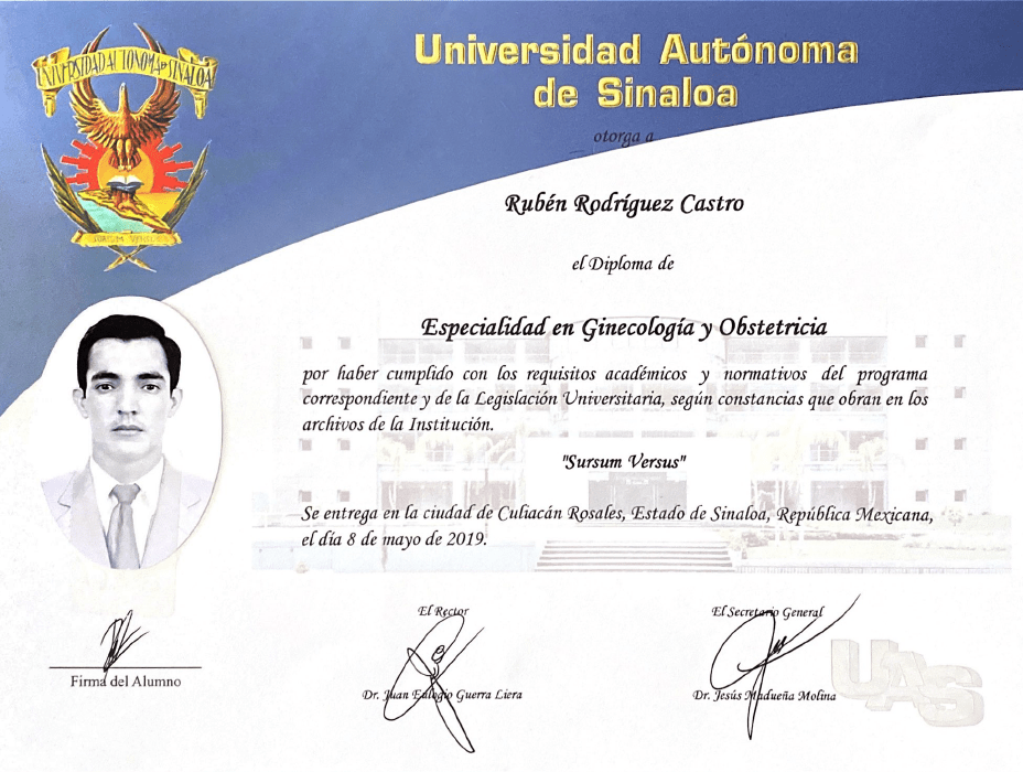 Certificados Ginecologia de Tijuana