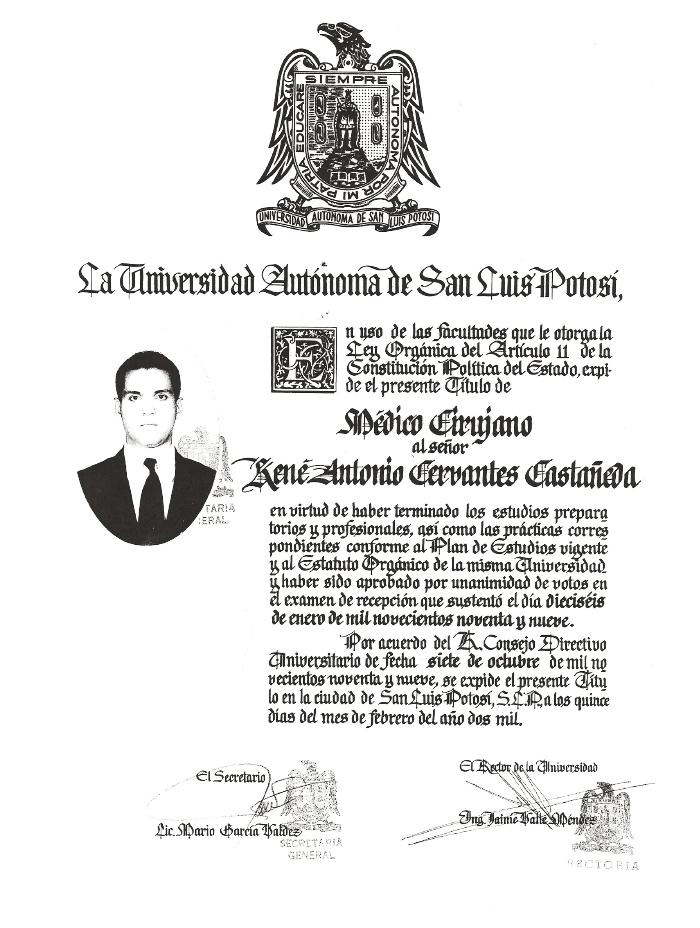 Certificado Oftalmologo de Tijuana