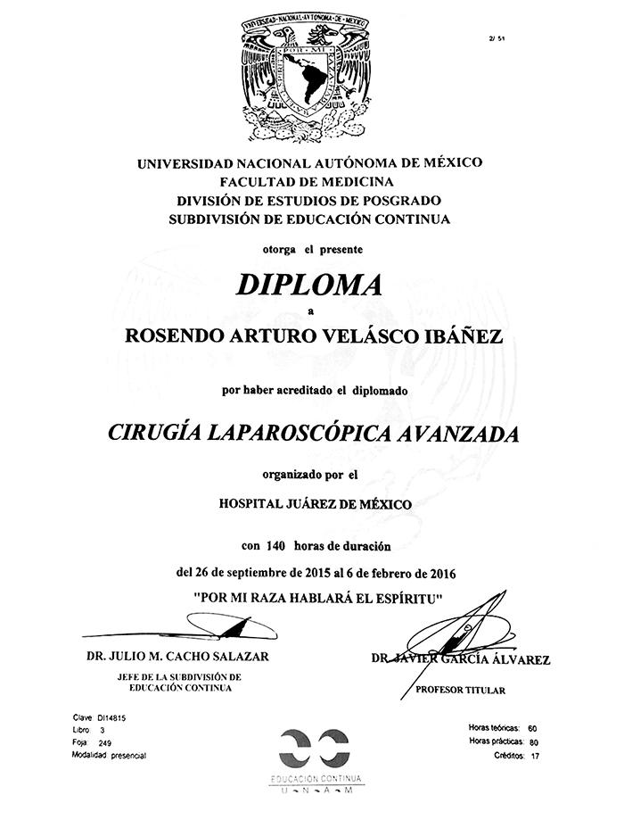Certificado Bariatra de Toluca