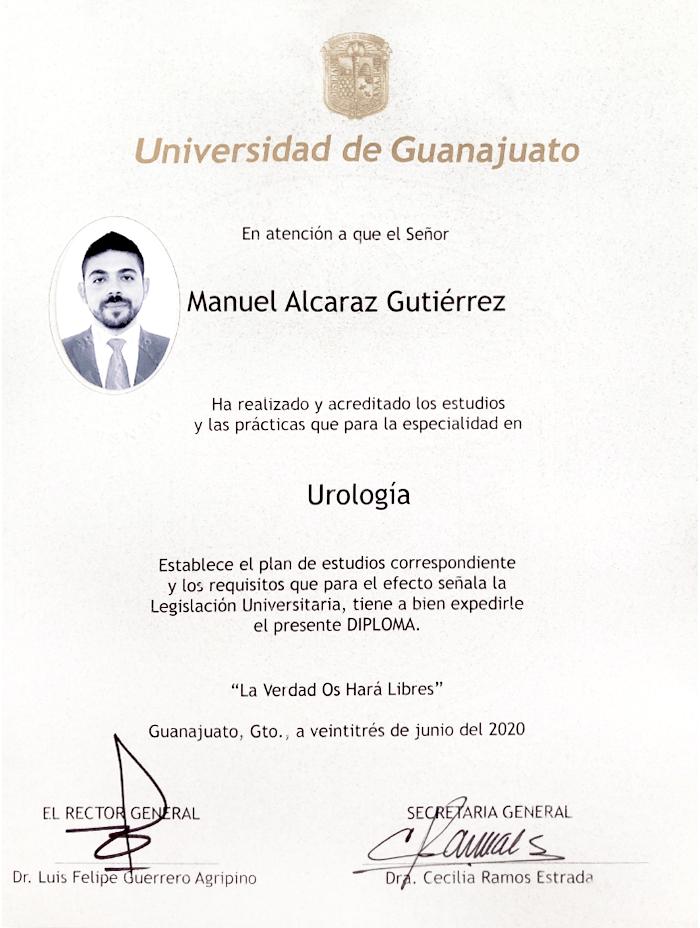 Certificados Urologia de Vallarta