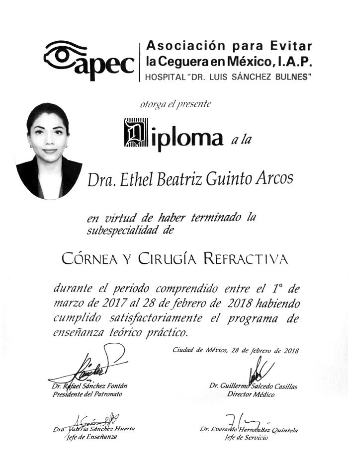 Certificado Oftalmologo de Boca del Rio